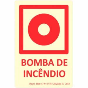 Placa de Sinalização Bomba de Incêndio