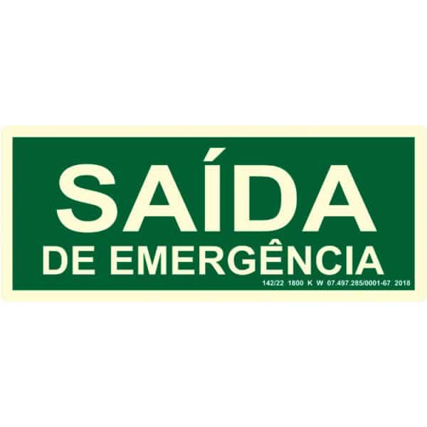 Placa de Sinalização Saída de Emergência