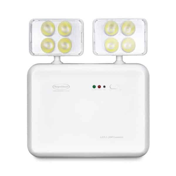 Iluminação Emergência LED 2 faróis 2200 lúmens