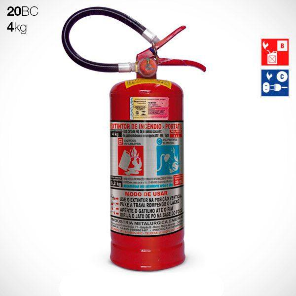 Extintor Pó BC 4kg (20BC)