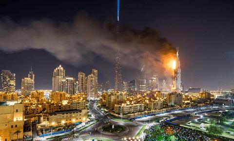 Incêndio em hotel de Dubai - Contra Incêndio
