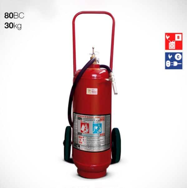 Extintor Carreta Pó Químico BC 30kg - 80BC