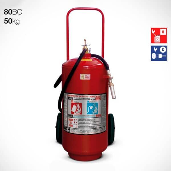 Extintor Carreta Pó Químico BC 50kg - 80BC