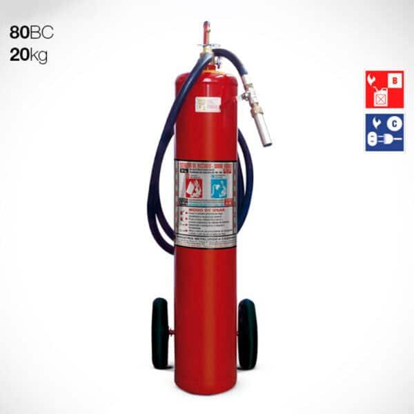 Extintor Carreta de Pó Químico Seco (PQS) 20Kg -80BC