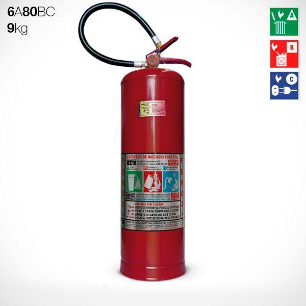 Extintor Pó Químico ABC 9 KG (6A-80BC)