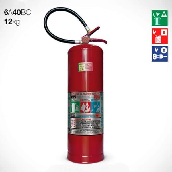 Extintor de Pó Químico Seco (PQS) ABC 12Kg