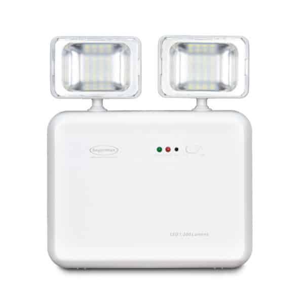 Iluminação Emergência LED 2 faróis 1200 lúmens