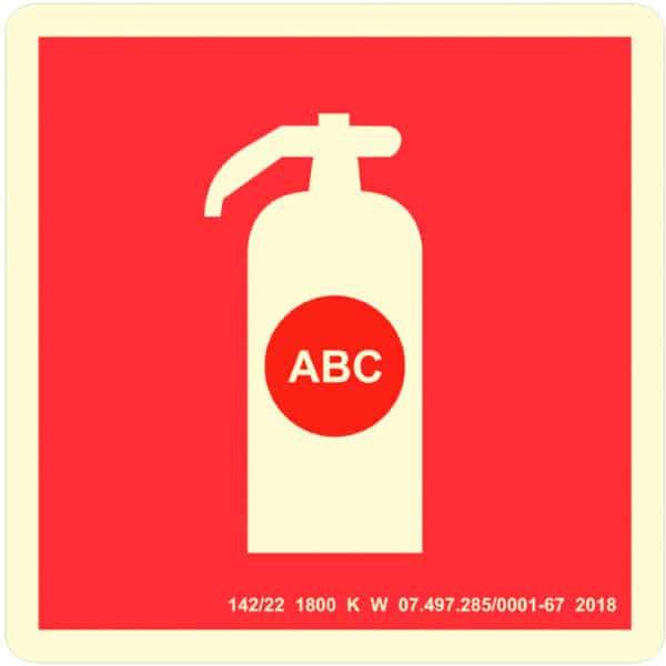 Placa de Sinalização Extintor ABC