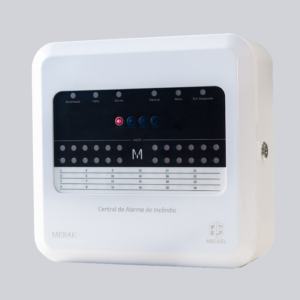 Central Alarme de Incêndio Convencional Merak CAX 12 Laços - Ascael